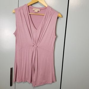 Michael Kors pink sleeveless top size L -N1